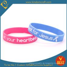 Mode Silikon Armbänder für Geschenk mit gedruckten Logo (KD1899)