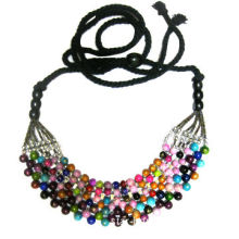 Necklace, Made of String and Plastic Bead, Customized Designs are Accepted, OEM Orders are Welcome