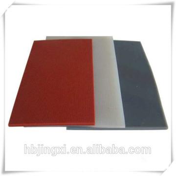 Gran calidad de calor resistencia caucho del silicio hoja / estera / Junta de la placa