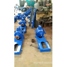 Pompe à vis à transmission d'huile brute avec maintien de la chaleur du manchon de serrage et pompe à huile lourde