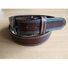 New Fashion Men′s Leather Belt with Edge Stitch