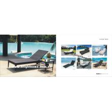 PE Rattan Wicker Outdoor Tagesbett Freizeitmöbel