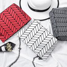 Nouveau sac à bandoulière en tissu pour femmes à la mode sac géométrique pli sac à chaîne unique