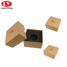 Kotak Kraft Brown Kraft Paper dengan Foam Insert
