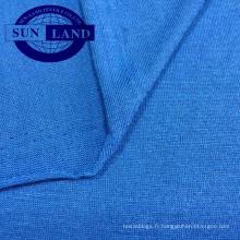 solide teinté, imprimé, teint en fil, chemisiers décontractés personnalisés, tissu en jersey de polyester filé,