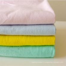 Tissu en flanelle teinté polyester / coton