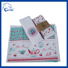 100% Cotton Yarn Printed Tea Towel (QHAC00980)