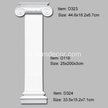 Foam Ionic Column Pilaster Capital