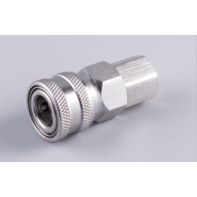 Stainless female Automatic quick coupler socket 1/4 thread