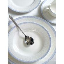 Asian unique design classic bone china ceramic soup bowls fancy plate