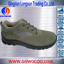 Grey Suede Leather Double Density PU Work Wear (GWPU-1024)