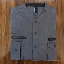 Top Material Camiseta de Algodão Vestuário Camiseta Polo Collar