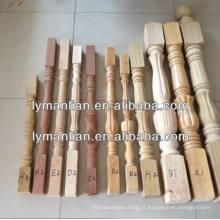post de madeira newel recon