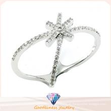 Nuevo diseño para el anillo de plata de la joyería de la joyería 925 de la manera de la mujer (R10401)