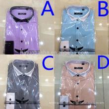 Drehen Sie unten Kragen-vier Farben-späteste Art-Männer Kleid-Hemden 2014 hochwertige beiläufige Männer neue Muster-Hemden NB0564