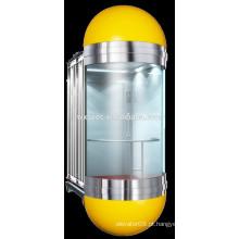 Elevadores Uso e tipo de passeio de CA MRL elevadores de vidro