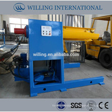 hydraulic decoiler 5T, steel coil decoiling machine