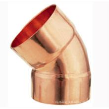 J9007 Cotovelo de cobre de 45 graus CXC, cotovelo 45, encaixe de tubulação de cobre, UPC, NSF SABS, WRAS aprovado