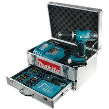 Инструмент алюминиевая сумка Организатор хранения чехол с ящиками для бурового мастера мастера Бесшнуровой сверла, биты