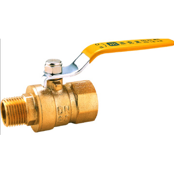 Male Male Lever Nickle Plated Brass Ball Gas Valve