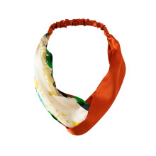 beleza de cor sólida personalizada de faixa de cabelo de seda pura