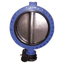Carbon Iron Body U-Type Flange Butterfly Valve D41X