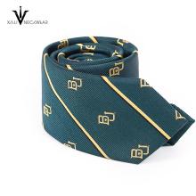 Custom Stripe Name Brand Woven Necktie
