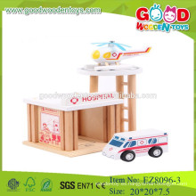 Niños preescolar juguetes conjunto hospital fingir juego preescolar conjunto juguetes madera hospital conjunto juguetes