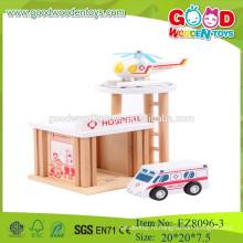 Дети дошкольные игрушки набор больница притворяться играть дошкольные набор игрушки деревянные больницы набор игрушки