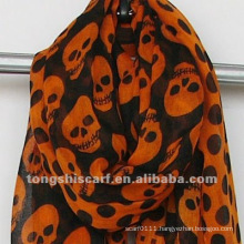 Online wholesale poly voile skulls scarf
