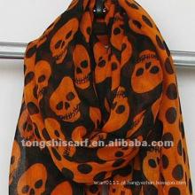 Atacado Online poli voile skulls scarf