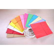 Цветная складная бумага для бумажных мешков для логотипа для презентации