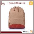 Alta calidad Vintage Fashion Casual Canvas Crazy Horse Leather Men mochila mochilas bolsos de hombro para dama mochila