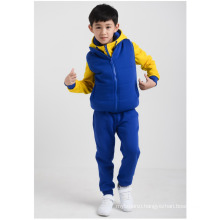 2016 latest design kids clothes set boys casual clothes suits jackets Vest pants for winter
