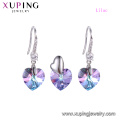 64892 xuping 2018 Luxury two-piece heart set with crystals from Swarovski
