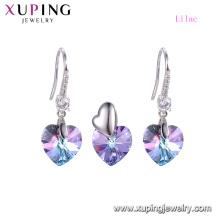64892 xuping 2018 Cœur de luxe en deux pièces serti de cristaux Swarovski