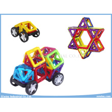 42PCS with Wheels DIY Magnetic Puzzle Toys Wisdom Mag Education Toys for Kids