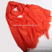 châle kani pashmina couleur orange