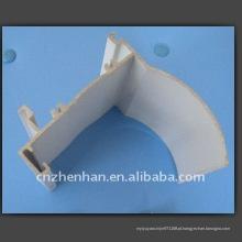 Cortina de alumínio-tampa ferroviária (tamanho pequeno) para zebra blind-rolo componentes cego, trilha de cortina / tubo, acessórios, tampa de alumínio