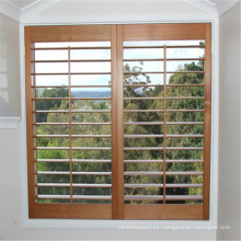 ventana de madera directa de la fábrica persianas de la ventana de la plantación de la ventana de la lumbrera