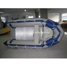 bateau gonflable de Chine ce canot pneumatique aluminium sol pvc bateau d'aviron de 3,6 m