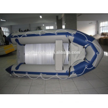 ce china inflatable boat 3.6m rowing inflatable boat aluminum floor pvc boat
