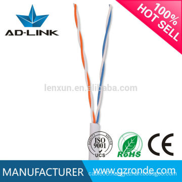 Best quality copper twisted pair 0.4mm 0.5mm telephone cable 2 pair