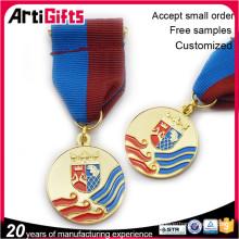 Nickel plated metal embossing medal award badge