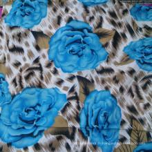 Magnifique tissu de rayon de fleur pour robe et pantalons