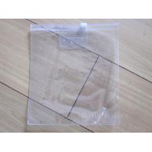 Clara PVC Ziplock embalagem saco (hbpv-60)