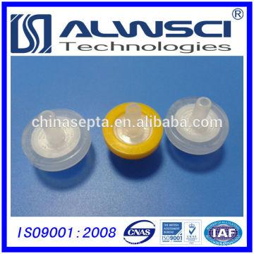 Filtros de seringa de 13mm mais vendidos Tamanho de poro hidrofílico PTFE 0.22um
