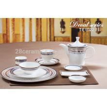Vajilla china de sublimación vajilla, placa de platos de cerámica platos