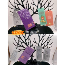 UHF customized garment paper hang tags
