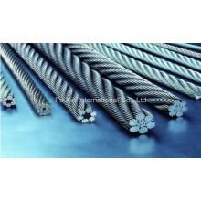 7 * 19 câble métallique en acier inoxydable